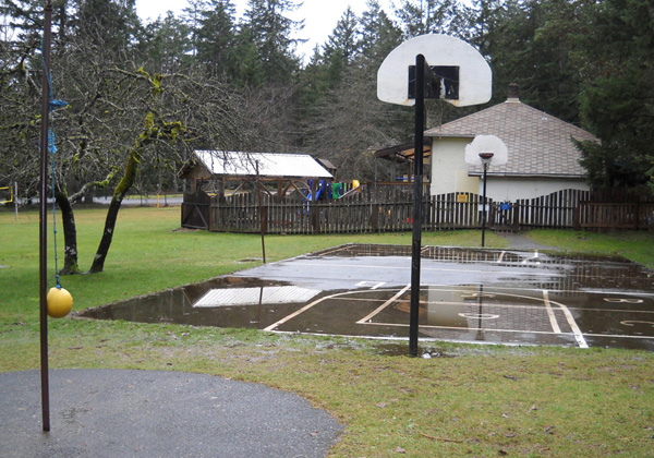 basketball at the playground